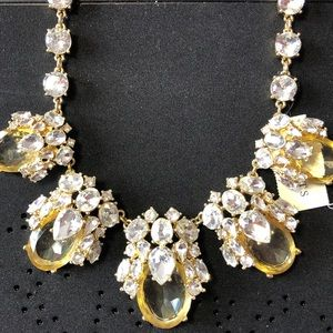 Talbots Crystal and Citrine Chunky Necklace NWT